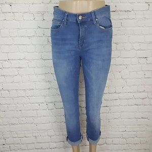 LOLE Light High Waisted Stretch Cropped Jeans 30